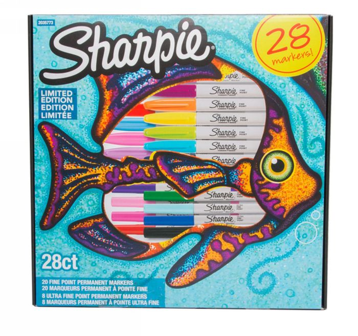 28 Pack Sharpie Fish Limited Edition Permanent Markers