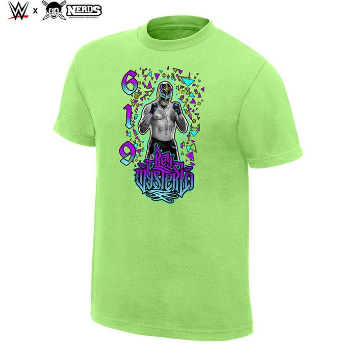 """Rey Mysterio """"619"""" Neon Collection Graphic T-Shirt"""