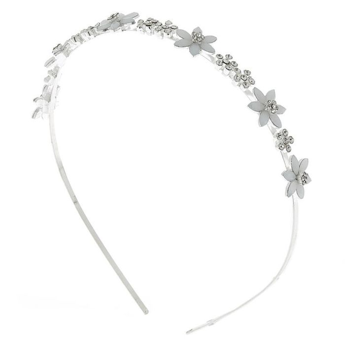 Silver Frosted Flower Headband