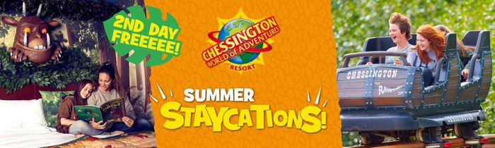2nd Day FREE with Your Staycation at Chessington World of Adventures Resort