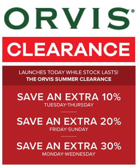 ORVIS Summer Clearance - Men, Women, Fly Fishing, Dogs...