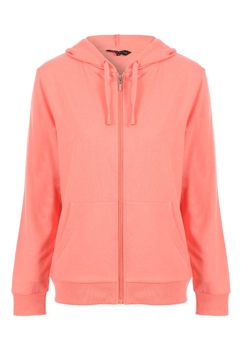 Womens Coral Zip through Hooded Jacket