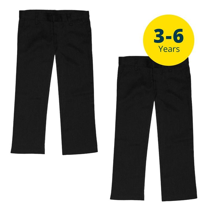 Back to School 2 Pack Black Trousers