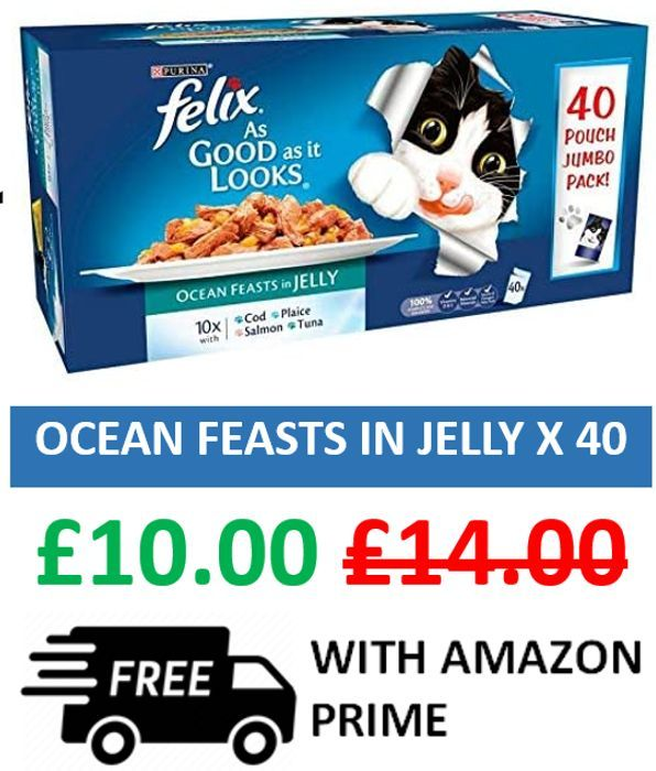 40x Felix as Good as It Looks Ocean Feasts - ONLY 25p a POUCH!