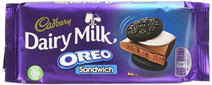 Cadbury Dairy Milk Oreo Sandwich Chocolate Bar