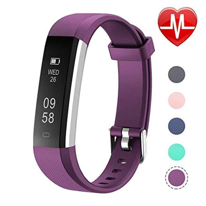 Letsfit ID115U HR Fitness, Heart Rate Sleep Monitor and Step, Waterproof