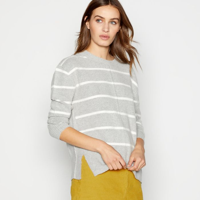 Cheap Grey Stripe Print 'Sponge' Knitted Jumper - HALF PRICE