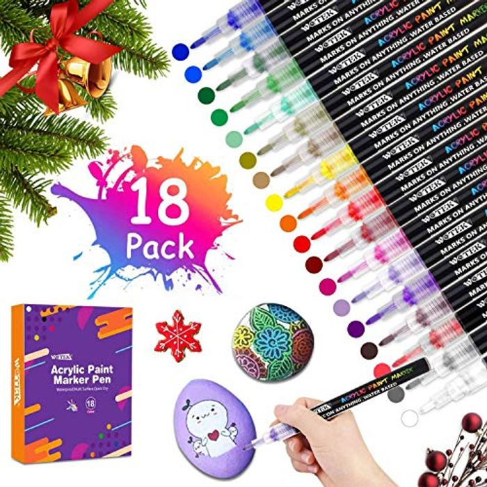 Acrylic Paint Pens 18 Colors Down From £17.99 to £13.29
