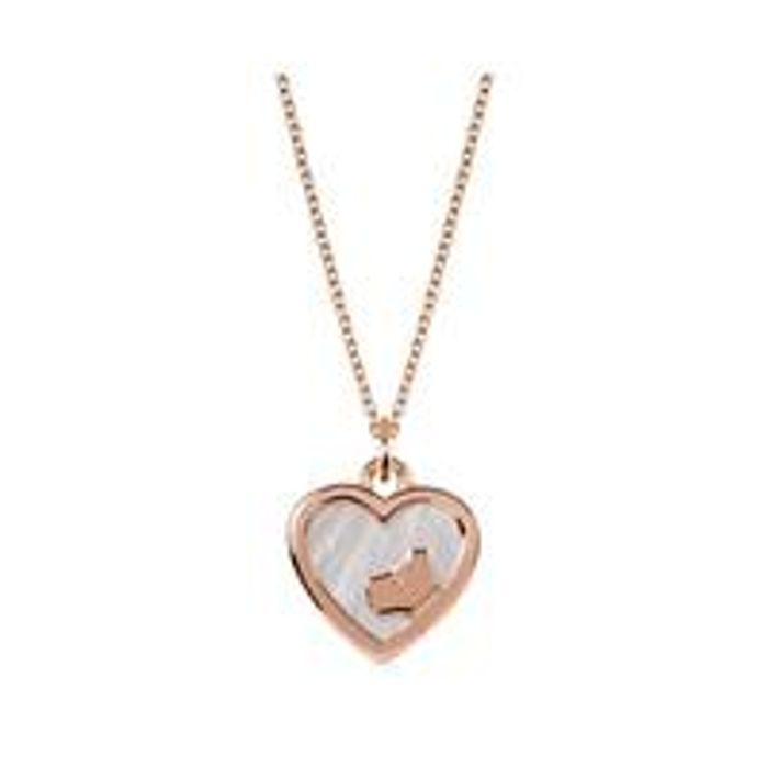 Radley 18k Rose Gold Plated Sterling Silver & Mother of Pearl Heart Dog Pendant