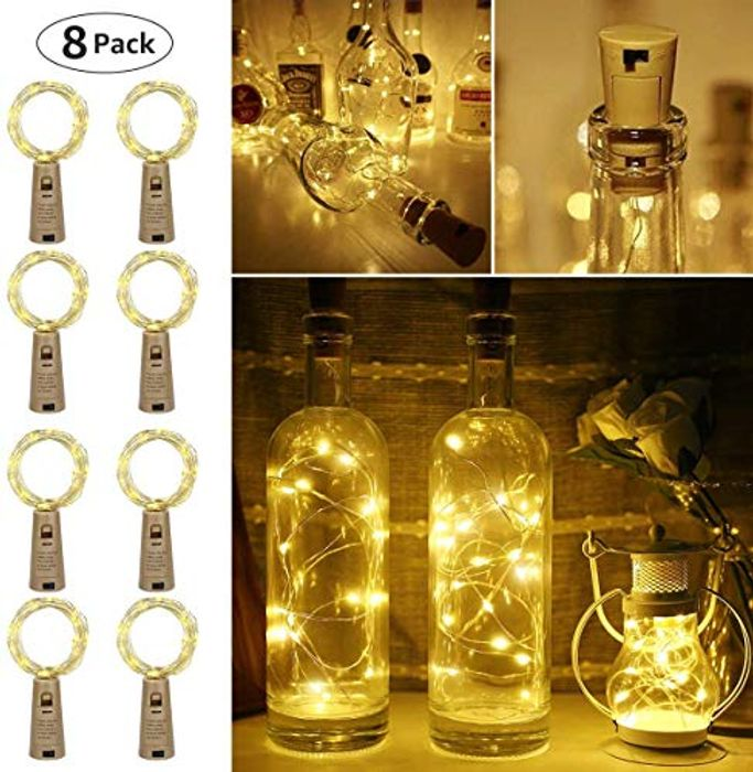 Bottle Lights Pack of 8 Down From £12.99 to £8.49