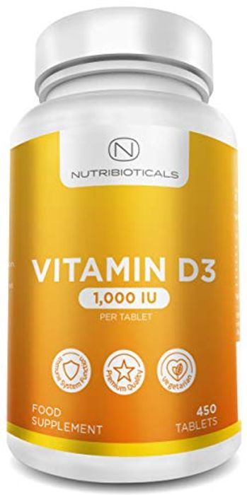 Vitamin D3 1000IU (25g) per Tablet 15 Month Supply at Amazon
