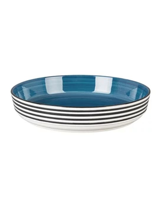 Large round Blue Serving Bowl