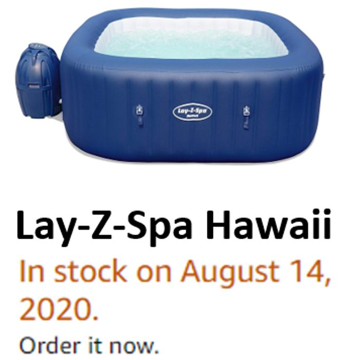 Lay-Z-Spa Hawaii Hot Tub (In Stock on August 14, 2020. ORDER NOW!)
