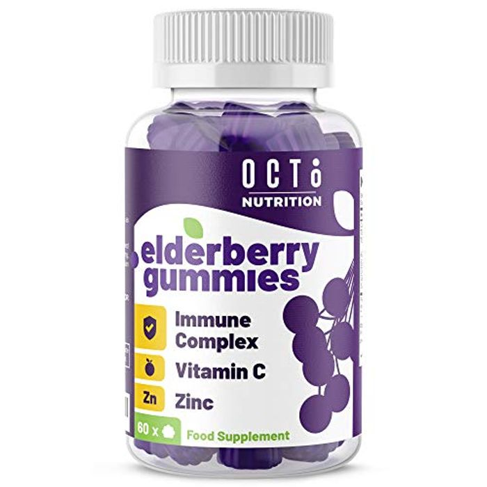 Octo Nutrition Elderberry 60 Vegan Gummies with Vitamin C & Zinc | Immune System