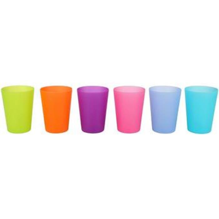 6 x Multi-Coloured Plastic Tumblers - £1