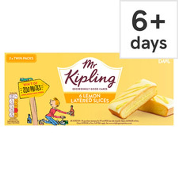 6 Pack Mr Kipling Lemon Slices