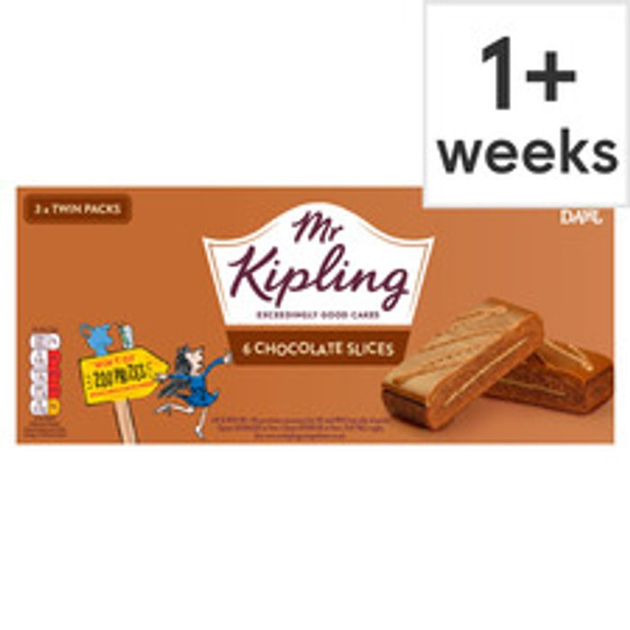 6 Pack Mr Kipling Chocolate Slices