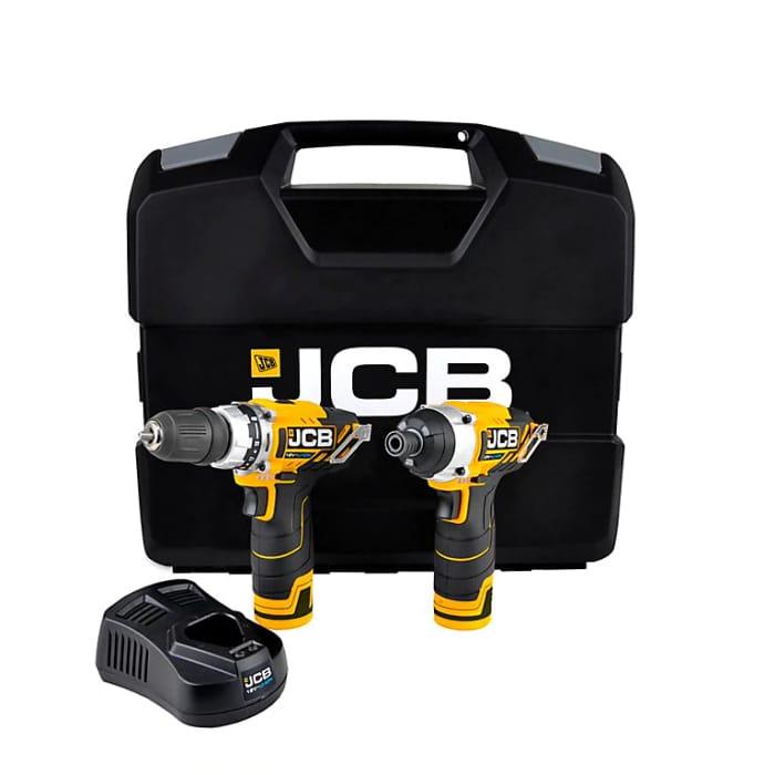 Best Price! JCB 12V 1.5Ah Li-Ion Cordless Drill Driver & Impact Driver