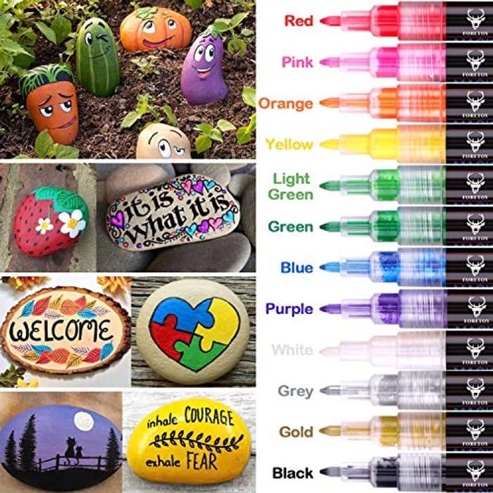 Get Creative! Acrylic Paint Pens 12 Colours