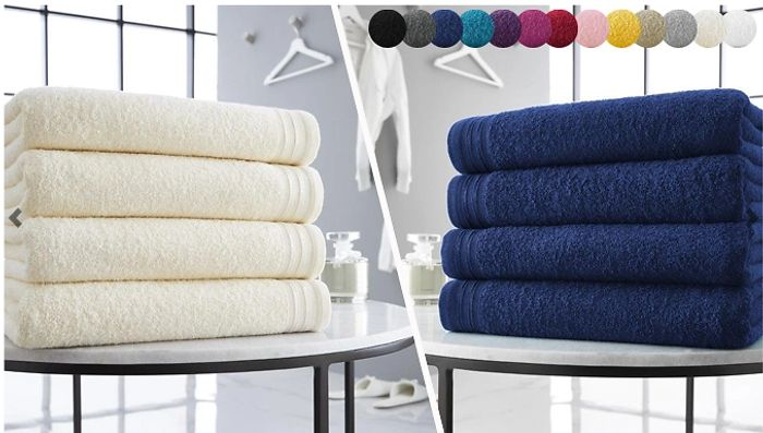 4 X Egyptian Cotton Jumbo Bath Towels - £19.49 Delivered