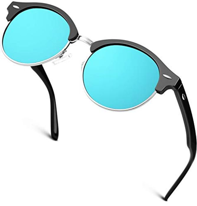 GQUEEN Classic Horn Rimmed Half Frame Polarized Sunglasses Brand Designer GQ51