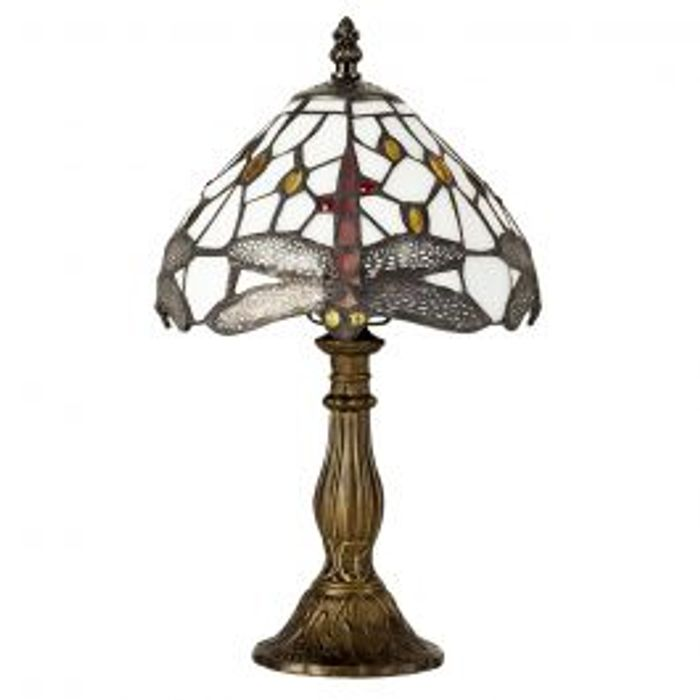 Best Price! Tiffany Dragonfly Antique Brass Table Lamp