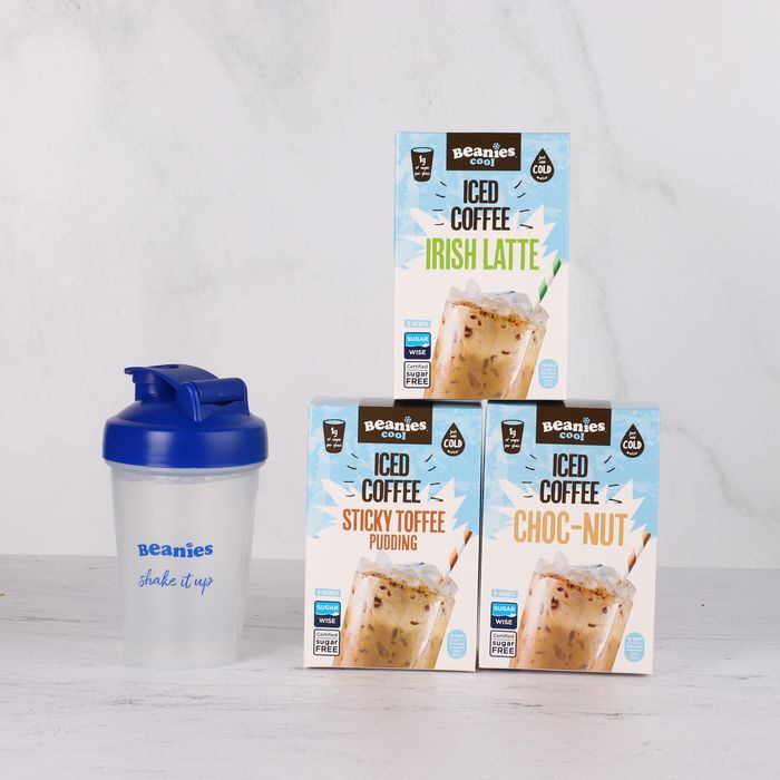 Free Delivery. Pink or Blue. Iced Coffee with Beanies Mini Shaker