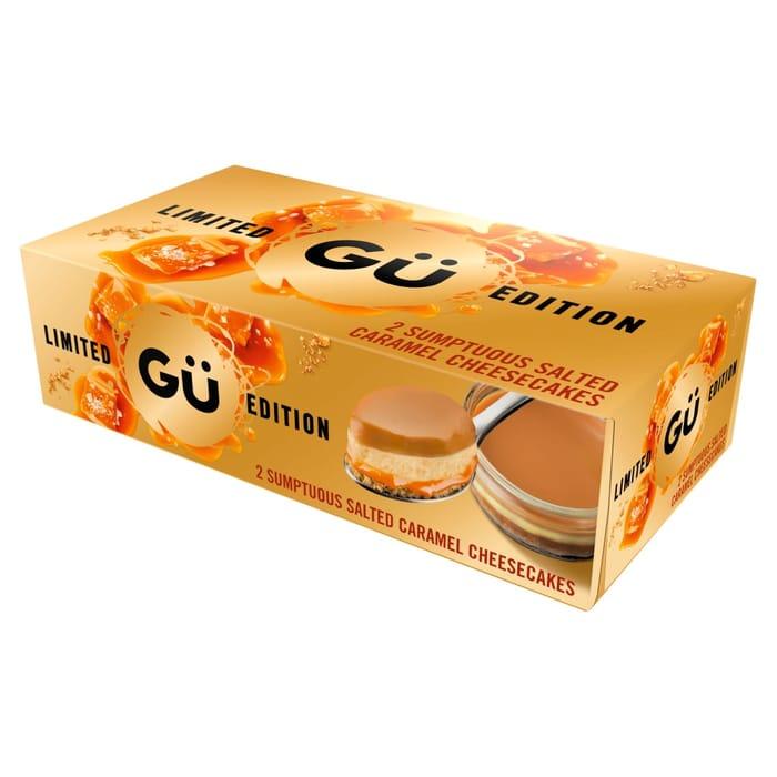 GU Salted Caramel/Lemon Cheesecakes 2x92g