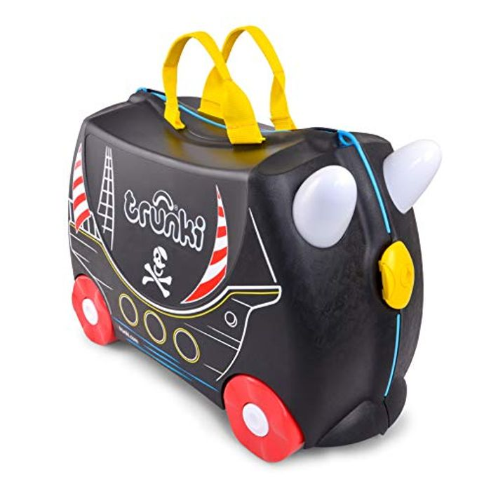Trunki Childrens Ride-on Suitcase & Hand Luggage: Pedro the Pirate Ship (Black)