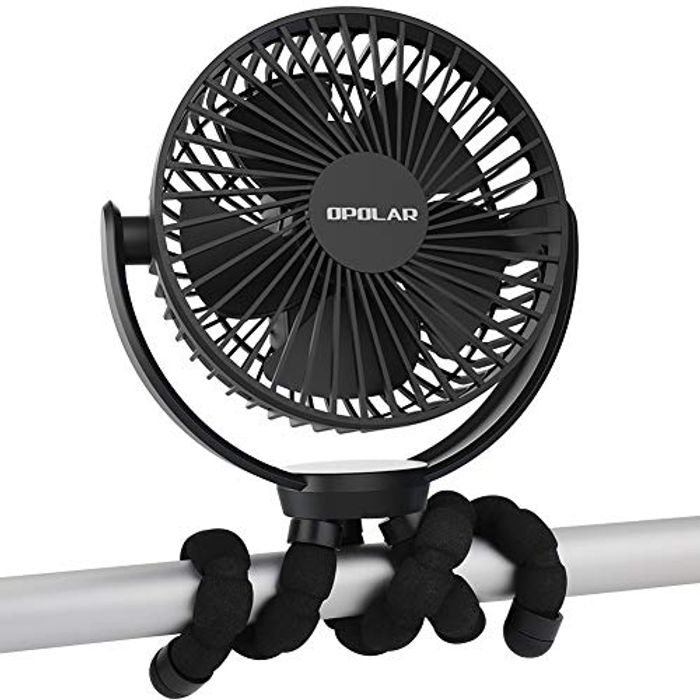 5000mAh Rechargeable Battery Powered Clip Fan