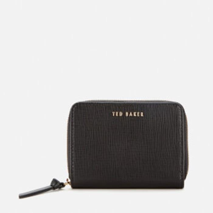 Ted Baker Women's Katrien Crosshatch Zip Around Mini Purse - Black