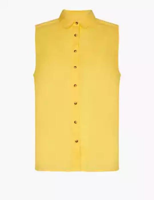 Pure Cotton Sleeveless Shirt