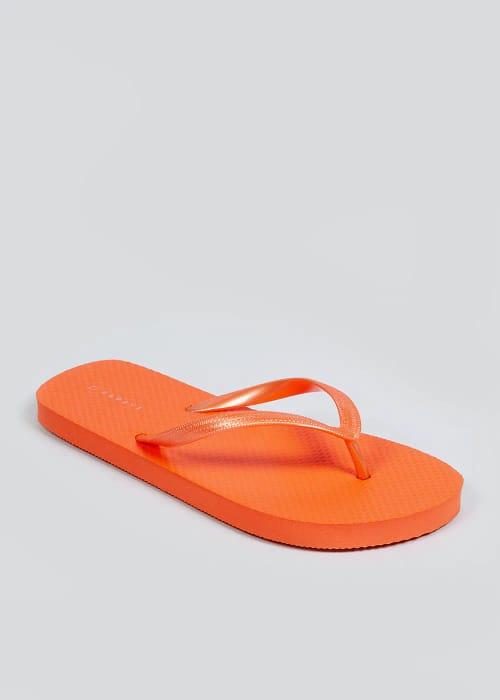 Women's Orange Flip Flops