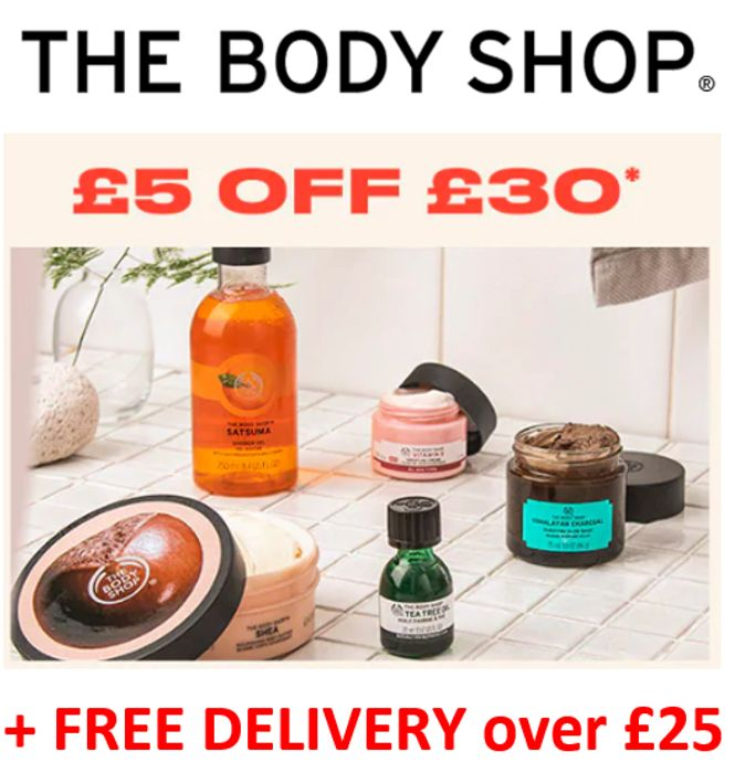 £5 off £30 and Free Delivery