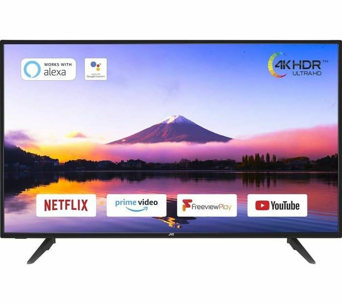 """JVC 55"""" Smart 4K Ultra HD HDR LED TV - £319 Delivered"""