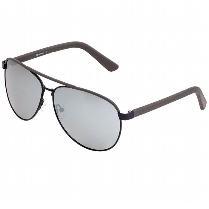 SIXTY ONE Wreck Polarised Sunglasses (Black/Silver)