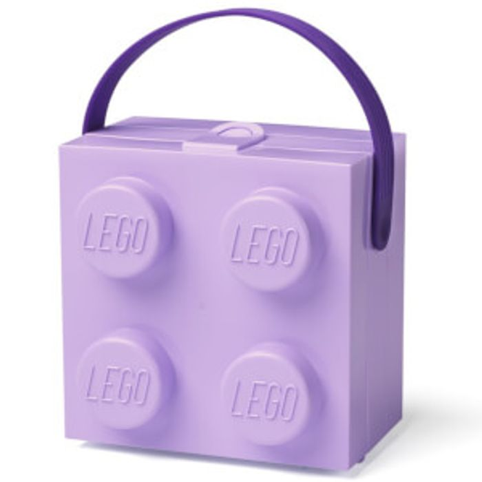 LEGO Lunch Box with Handle - Lavender