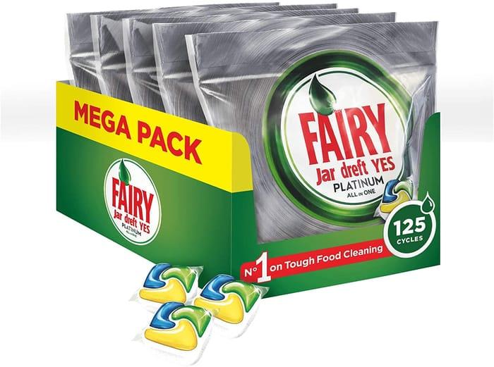 Fairy Platinum Dishwasher Tablets Lemon MEGA PACK 125 Tablets