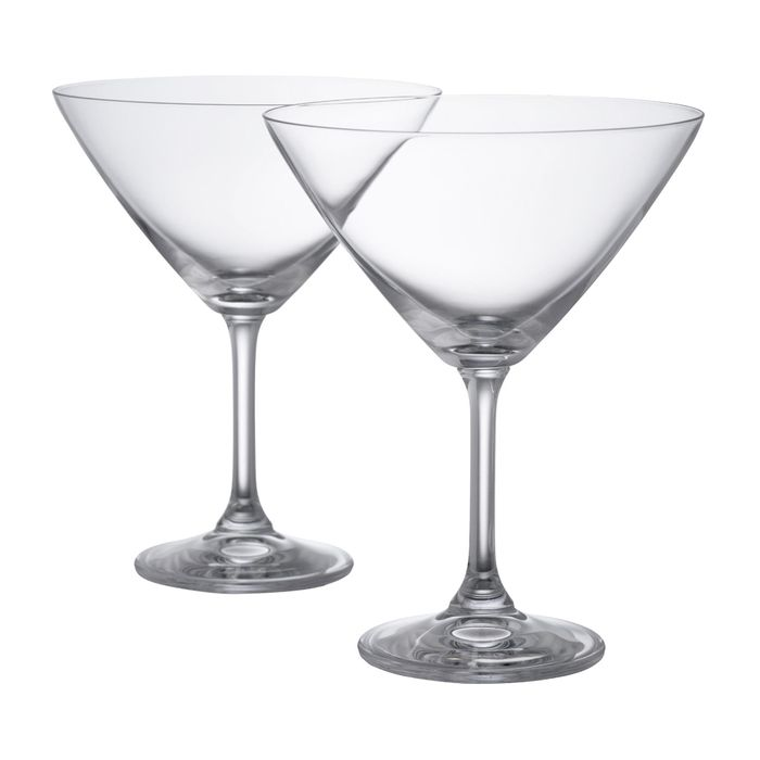 Pair of Boxed Crystal Martini Glasses