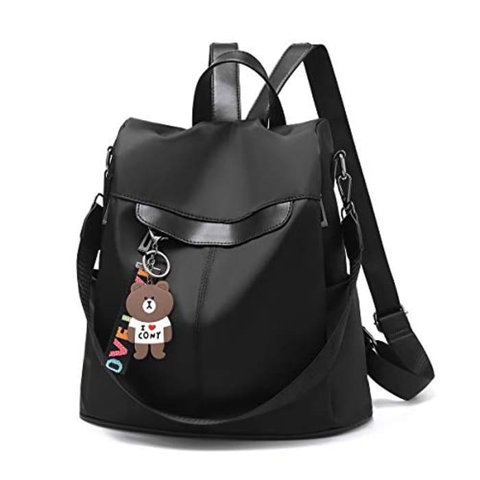 Women Backpack Anti-Theft Waterproof Casual Rucksack Purse PU Leather