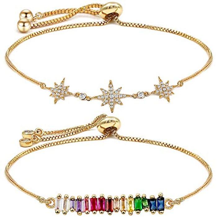 Womens Tennis Bracelet, Adjustable Ladies Bracelets Jewellery Birthday Present