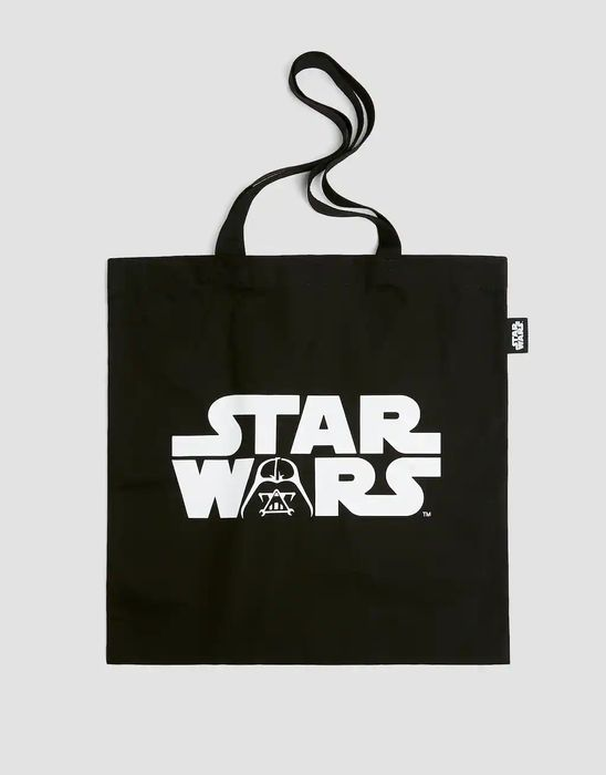 Black Star Wars Tote Bag