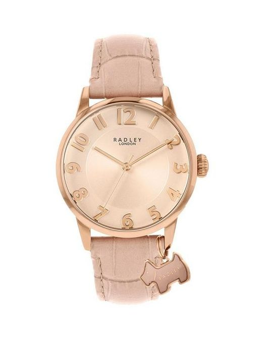 Radley Blush Sunray Charm Dial and Leather Strap Ladies Watch