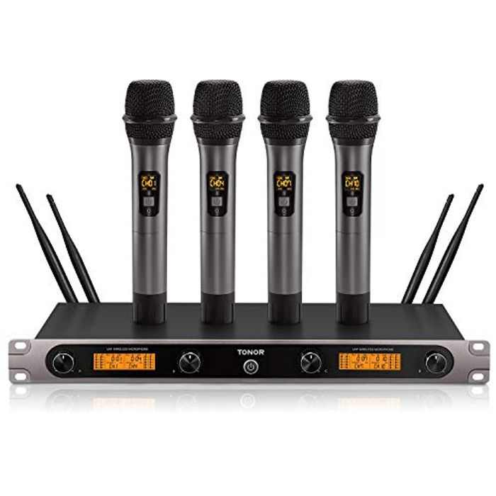 4-Channel Wireless Microphone System