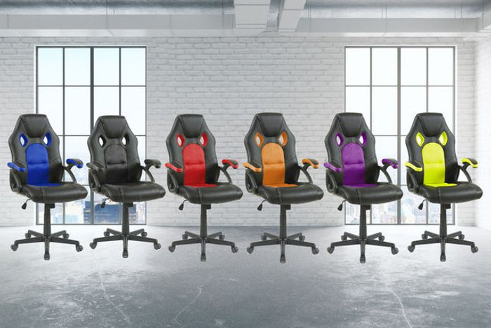 Cushioned Tilting Office Chair - 6 Colours!