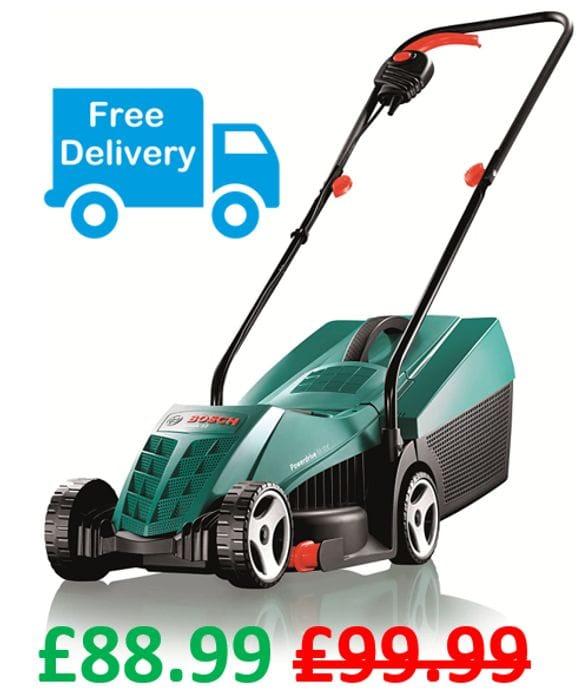 SAVE £11 - Bosch Rotak 32R Electric Rotary Lawnmower, 32cm Cut