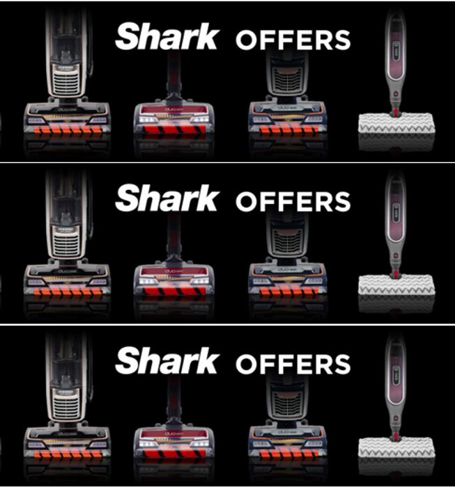SHARK Vacuum Cleaner OFFERS - Up to £130 off SHARKS