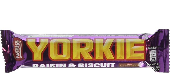 Yorkie Raisin and Biscuit, 44 G (Pack of 24)