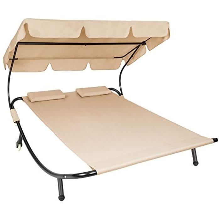 Double Garden Bed Sun Lounger