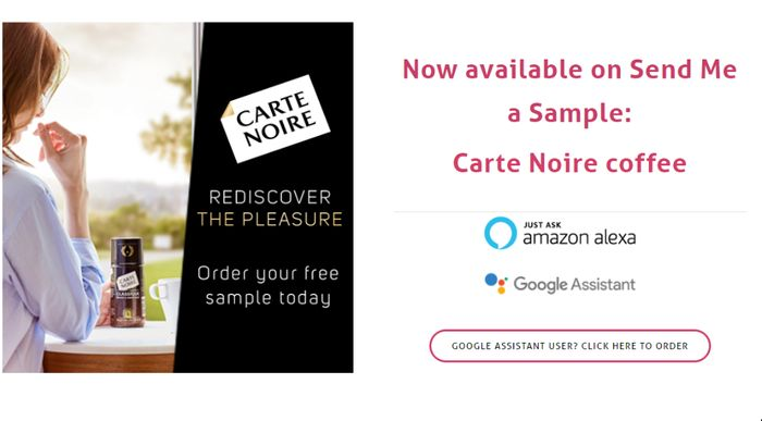 Free Carte Noire Coffee First 10,000 To Apply via Alexa Or Google Assistant